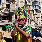 South African Soccer Fan Blows on Vuvuzela Horn by RatManDude