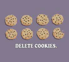 Delete Cookies (Beige) Kids Tee