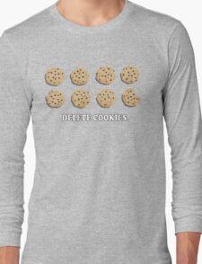 Delete Cookies (Beige) Long Sleeve T-Shirt