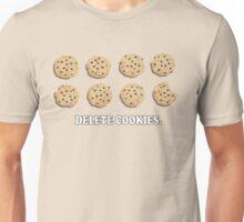 Delete Cookies (Beige) Unisex T-Shirt