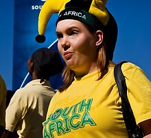 South African Soccer Fan Soccer Fan in Jester's Hat by RatManDude