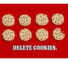 Delete Cookies (Red) Photographic Print