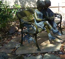 kids bench sculpture by Mardra