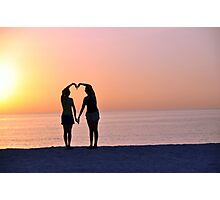 Heart Silhouette Photographic Print