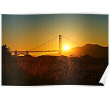Golden Gate Sunrays Poster