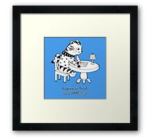 Time Before Email (Blue) Framed Print