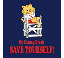 Save Yourself (Navy) Photographic Print