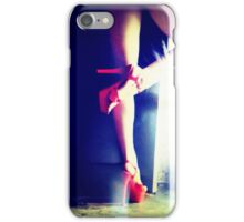 Red Heels Ghost Image iPhone Case/Skin