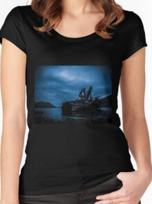 Night Fell Women's Fitted Scoop T-Shirt