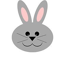 Cute Bunny Face Photographic Print