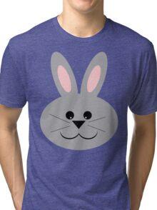 Cute Bunny Face Tri-blend T-Shirt
