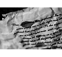 Lyrics - Airplanes, B.O.B ft Hayley Williams and Eminem Photographic Print