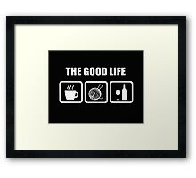 The Good Life Knitting Framed Print
