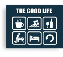 Funny Swimming The Good Life Canvas Print