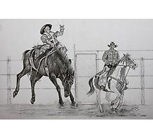 Ride 'em Cowboy Photographic Print