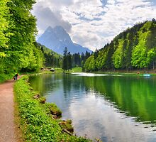 Green Lake and the Mountains by Daidalos