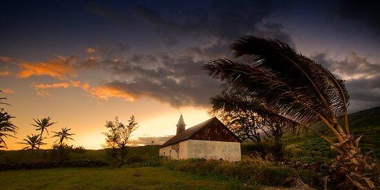Hui Aloha Church at Kaupo Gap by Ken Wright