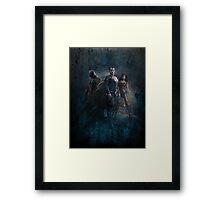 Batman vs Superman: Dawn of Justice Design Framed Print
