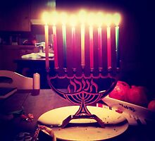 Colorful Menorah by AnkhaDesh