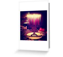 Colorful Menorah Greeting Card