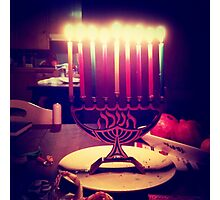 Colorful Menorah Photographic Print