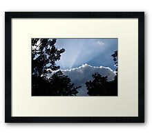 Shine Down Your Light on Me Framed Print