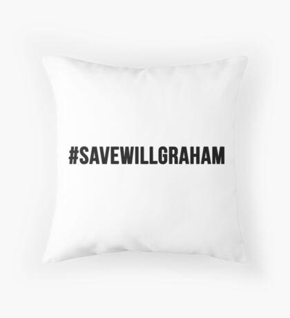 #SaveWillGraham Throw Pillow