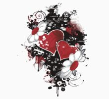 Fancy fashion hearts t-shirt by Amalia Iuliana Chitulescu