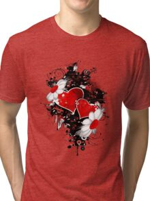 Fancy fashion hearts t-shirt Tri-blend T-Shirt