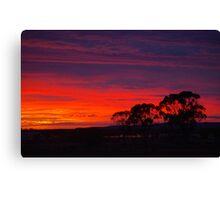 Little Topar Sunrise Canvas Print