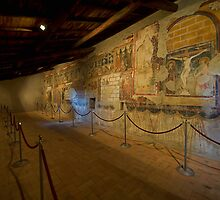 800 Year old Frescos in Italy by Warren. A. Williams