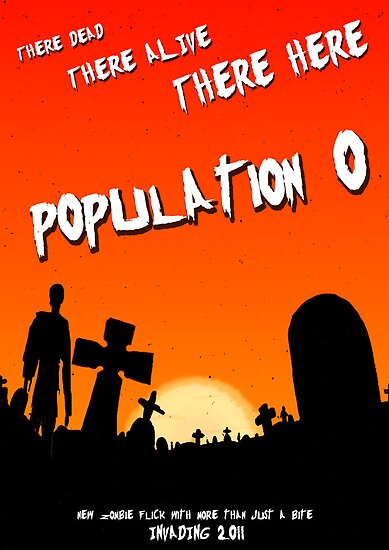 Population zero movie poster by stitchgrin