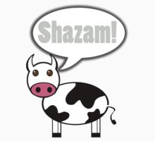 Cow goes Shazam! by Nathan Borg