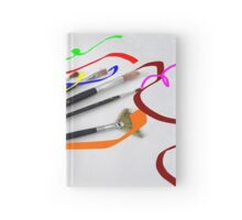 Artist´s brushes and painting Hardcover Journal