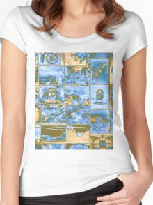 ©DA Collage Pop IA. Women's Fitted Scoop T-Shirt