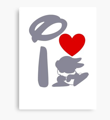 I Heart Thumper (Inverted) Canvas Print