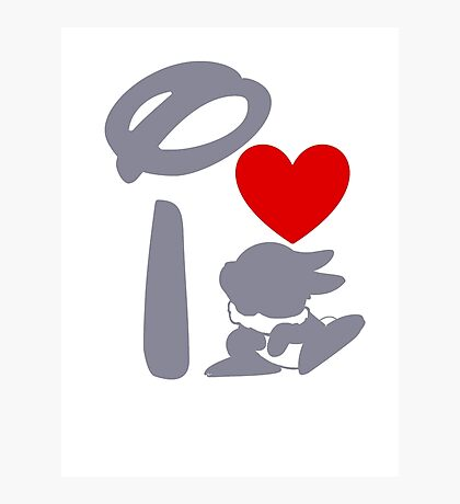 I Heart Thumper (Inverted) Photographic Print