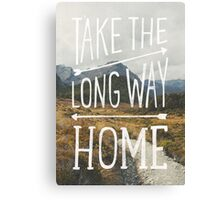 TAKE THE LONG WAY Canvas Print