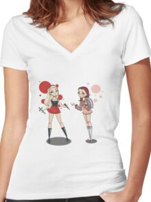 Buffy and Willow Women's Fitted V-Neck T-Shirt