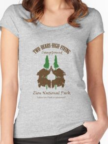 Two-Bears High Fiving Campground Women's Fitted Scoop T-Shirt