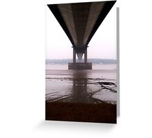 Humber Bridge, Kingston upon Hull, UK Greeting Card