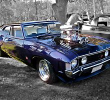 Purple Ford Falcon with Blower by Ferenghi