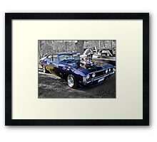 Purple Ford Falcon with Blower Framed Print