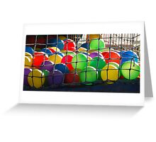 Sunset on the ballpool. Greeting Card