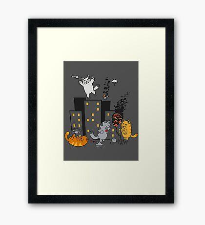 CATastrafy Framed Print