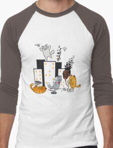 CATastrafy Men's Baseball ¾ T-Shirt