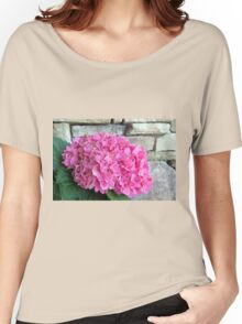 Hydrangea and a Rock Wall Women's Relaxed Fit T-Shirt