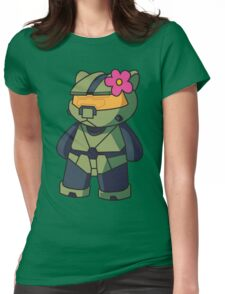 Halo Kitty Womens Fitted T-Shirt