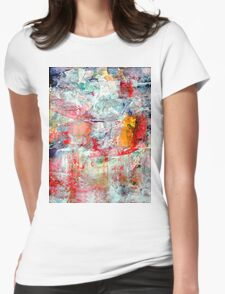 Landscape melting into Lake Womens Fitted T-Shirt