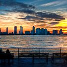 Watching the Sky Burn (HDR) by Dave Bledsoe